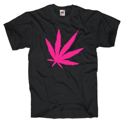 Pink Canabis Shirt online mit dem Shirtdesigner gestalten