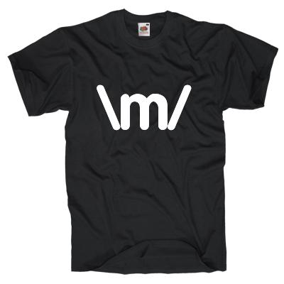 Rock and Roll Emoticon Shirt online mit dem Shirtdesigner gestalten