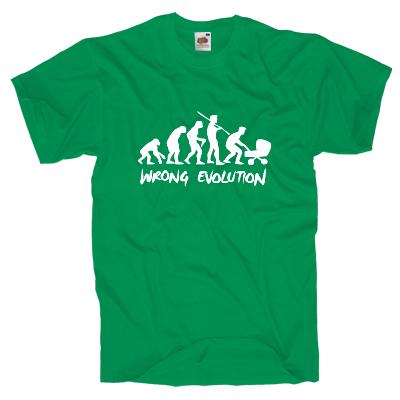 Wrong Evolution T-Shirt Shirt online mit dem Shirtdesigner gestalten