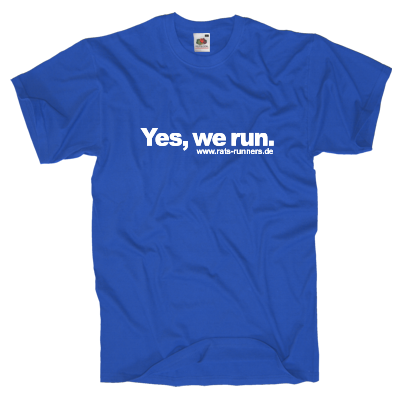 Yes, we run T-Shirt Shirt online mit dem Shirtdesigner gestalten